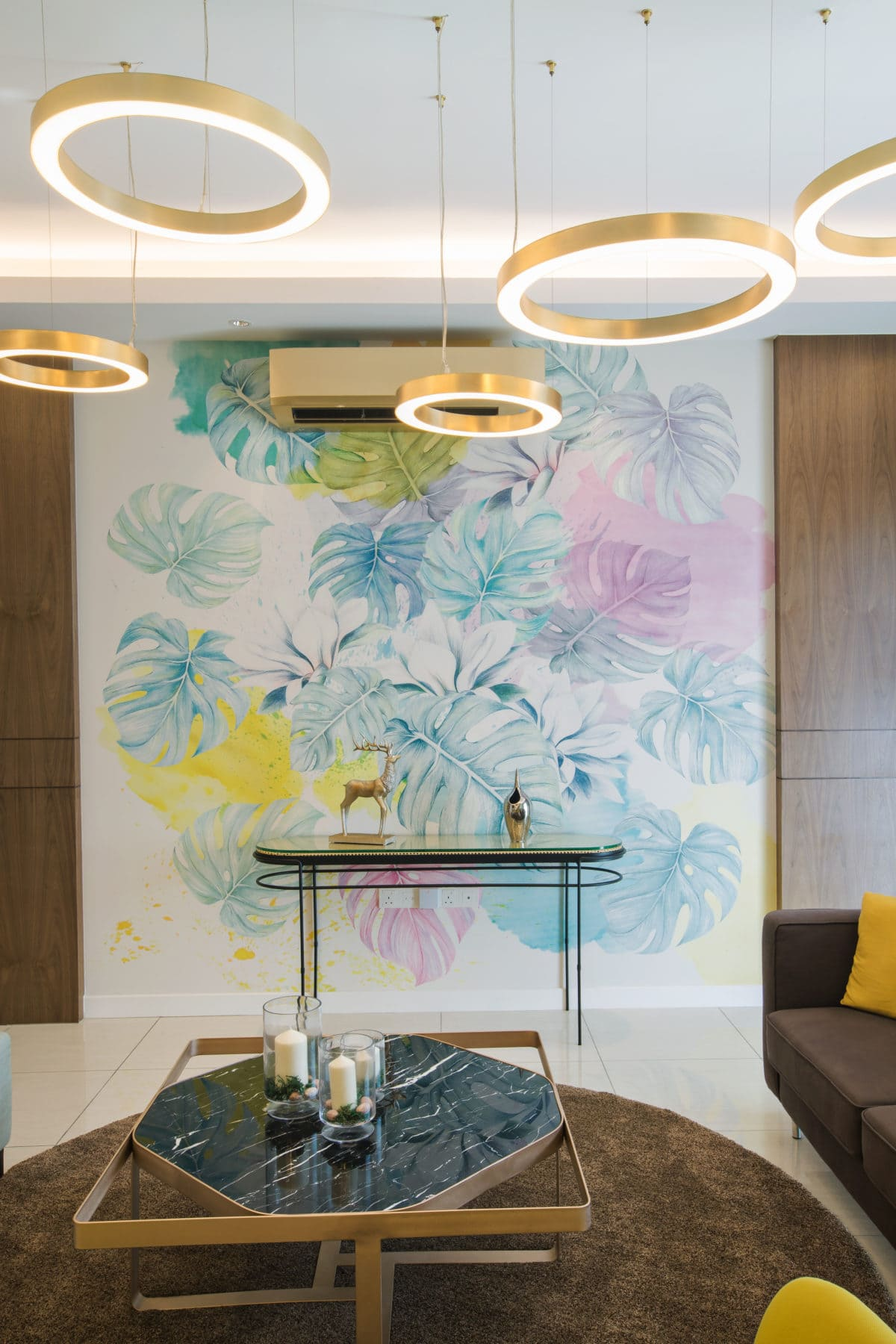 Muse by the sky - Bespoke mural wall paper feature wall - Be In Design Solutions Sdn Bhd
