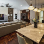 Vista Residences Penthouse Design -Living and dining area - Be In Design Solutions Sdn Bhd